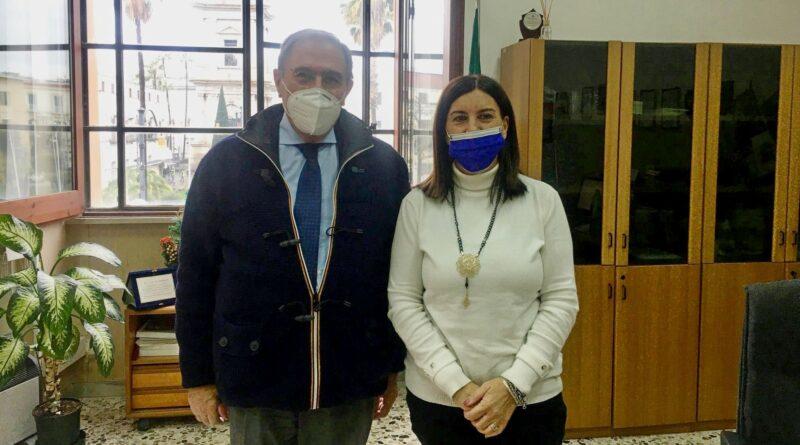 Pompei, il benvenuto del sindaco Lo Sapio al vicequestore Palumbo
